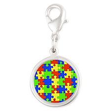 uniquepuzzle-10x8 Silver Round Charm