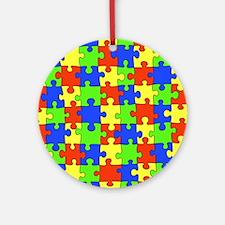 uniquepuzzle-10x8 Round Ornament