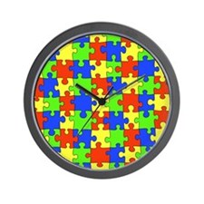 uniquepuzzle-10x8 Wall Clock