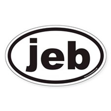 jeb Euro Oval Decal