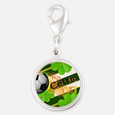 celtic-football-3-in-button Silver Round Charm
