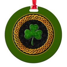 CELTIC-SHAMROCK-3-INCH-BUTTON Ornament