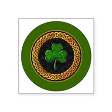 "CELTIC-SHAMROCK-3-INCH-BUTT Square Sticker 3"" x 3"""