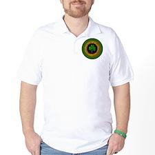 CELTIC-SHAMROCK-3-INCH-BUTTON T-Shirt