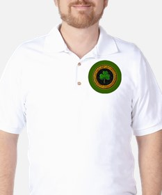 CELTIC-SHAMROCK-3-INCH-BUTTON T-Shirt