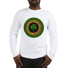 CELTIC-SHAMROCK-3-INCH-BUTTON Long Sleeve T-Shirt