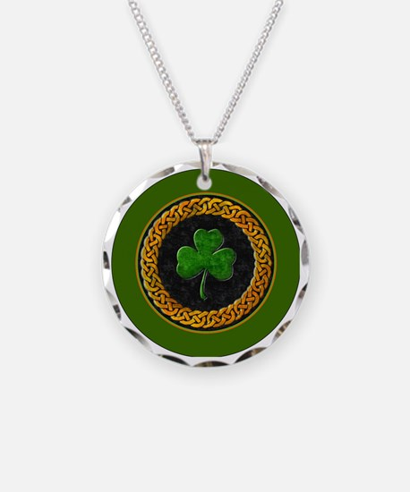 CELTIC-SHAMROCK-3-INCH-BUTTO Necklace
