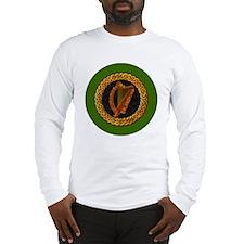 CELTIC-HARP-3-INCH-BUTTON Long Sleeve T-Shirt