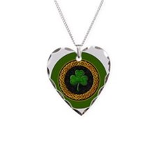 CELTIC-SHAMROCK-3-INCH-BUTTON Necklace Heart Charm