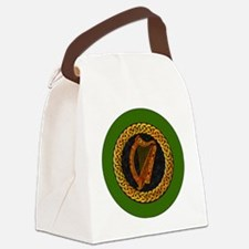 CELTIC-HARP-3-INCH-BUTTON Canvas Lunch Bag