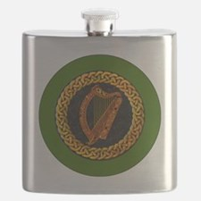 CELTIC-HARP-3-INCH-BUTTON Flask