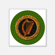"CELTIC-HARP-3-INCH-BUTTON Square Sticker 3"" x 3"""