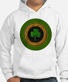 CELTIC-SHAMROCK-3-INCH-BUTTON Hoodie