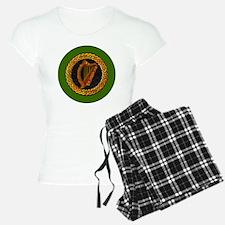 CELTIC-HARP-3-INCH-BUTTON Pajamas