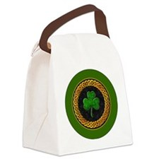 CELTIC-SHAMROCK-3-INCH-BUTTON Canvas Lunch Bag