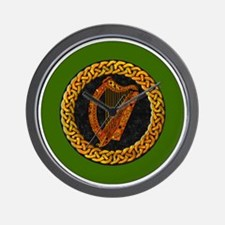 CELTIC-HARP-3-INCH-BUTTON Wall Clock