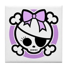Molly Bow III -purple Tile Coaster