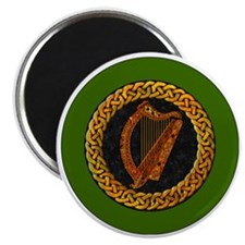 CELTIC-HARP-3-INCH-BUTTON Magnet