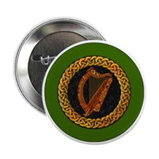 "CELTIC-HARP-3-INCH-BUTTON 2.25"" Button"