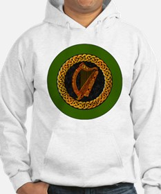 CELTIC-HARP-3-INCH-BUTTON Hoodie