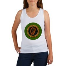 CELTIC-HARP-3-INCH-BUTTON Women's Tank Top
