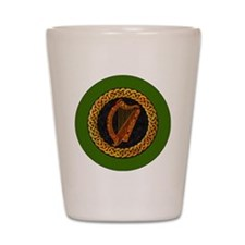 CELTIC-HARP-3-INCH-BUTTON Shot Glass