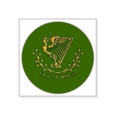 "ERIN-GO-BRAGH-3-INCH-BUTTON Square Sticker 3"" x 3"""