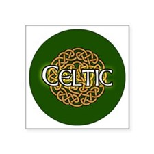 "celtic-v3-in-button Square Sticker 3"" x 3"""