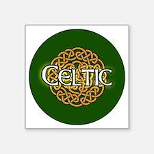 """celtic-v3-in-button Square Sticker 3"""" x 3"""""""