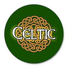 celtic-v3-in-button Round Car Magnet
