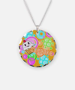 CUPCAKE-3-INCH-BUTTON Necklace