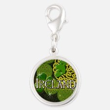 ireland-3-inch-button Silver Round Charm