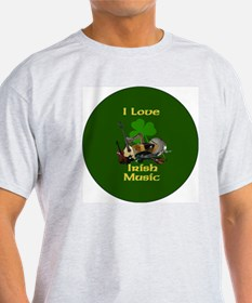 irish-music-3-in-button T-Shirt