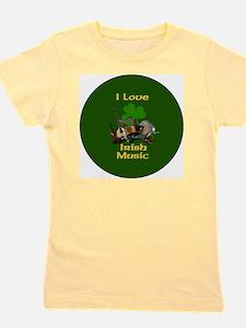 irish-music-3-in-button Girl's Tee