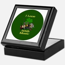 irish-music-3-in-button Keepsake Box