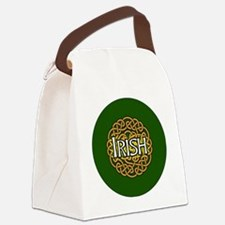 irish-celtic-3-in-button Canvas Lunch Bag
