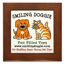 1 Smiling Doggie LOGO FINAL Framed Tile