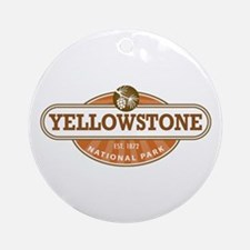 Yellowstone National Park Ornament (Round)
