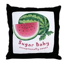 sugar baby childrens Throw Pillow