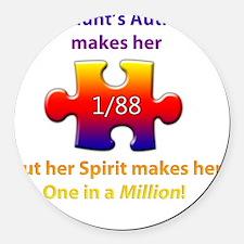 1inMillionlight-aunt-new Round Car Magnet