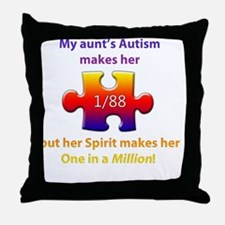 1inMillionlight-aunt-new Throw Pillow