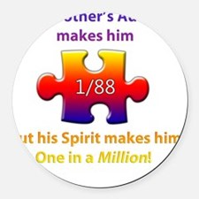 1inMillionlight-brother-new Round Car Magnet