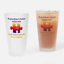 1inMillionlight-grandson-new Drinking Glass