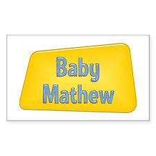 Baby Mathew Rectangle Decal