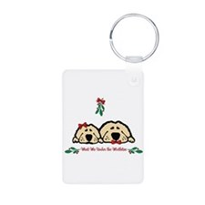 Meet Me Under the Mistletoe Dogs Keychains