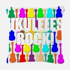 ukulele rocks uke ukuleles uke Woven Throw Pillow