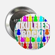 """ukulele rocks uke ukuleles ukes 2.25"""" Button"""