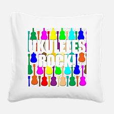 ukulele rocks uke ukuleles uk Square Canvas Pillow
