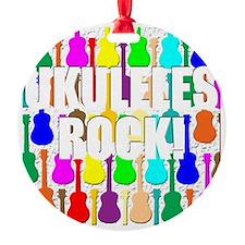 ukulele rocks uke ukuleles ukes Ornament