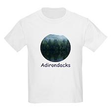Adirondack Mountain Trees Kids T-Shirt
